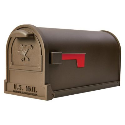 Arlington Bronze Post Mount Mailbox