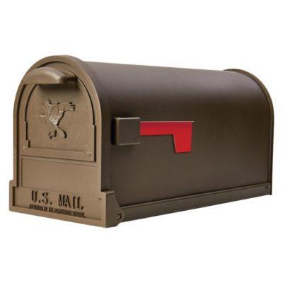 Arlington Bronze Post Mount Mailbox