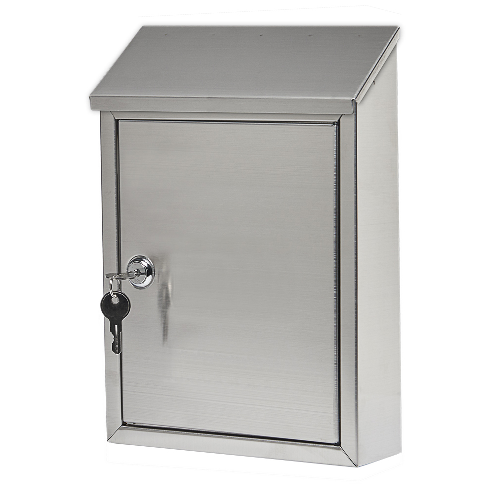 ashley locking wall mount mailbox stainless steel - Wall Mount Mailboxes