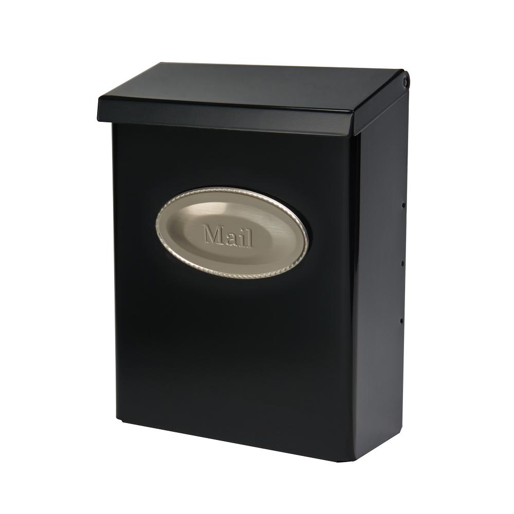 Designer Black Wall Mount Mailbox