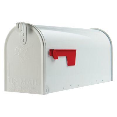 Elite white mailbox
