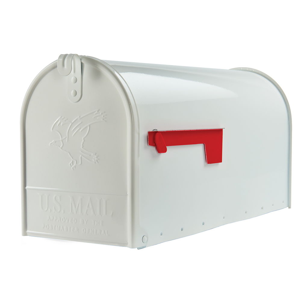 Elite Large White Mailbox