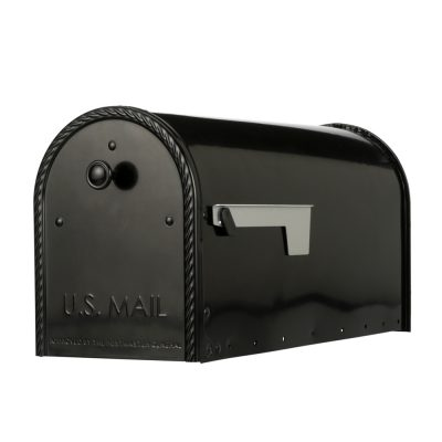 EM160B00 Black Post Mount Mailbox