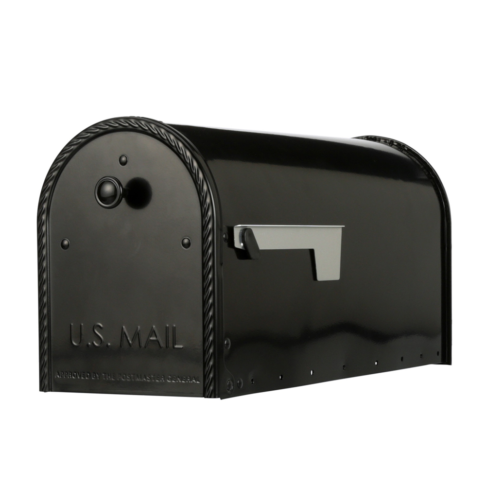 Edwards Black Mailbox