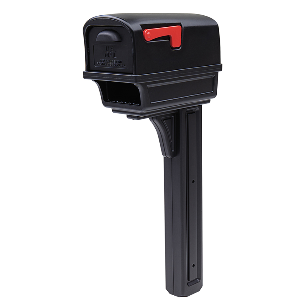 Gentry Black Mailbox with Post