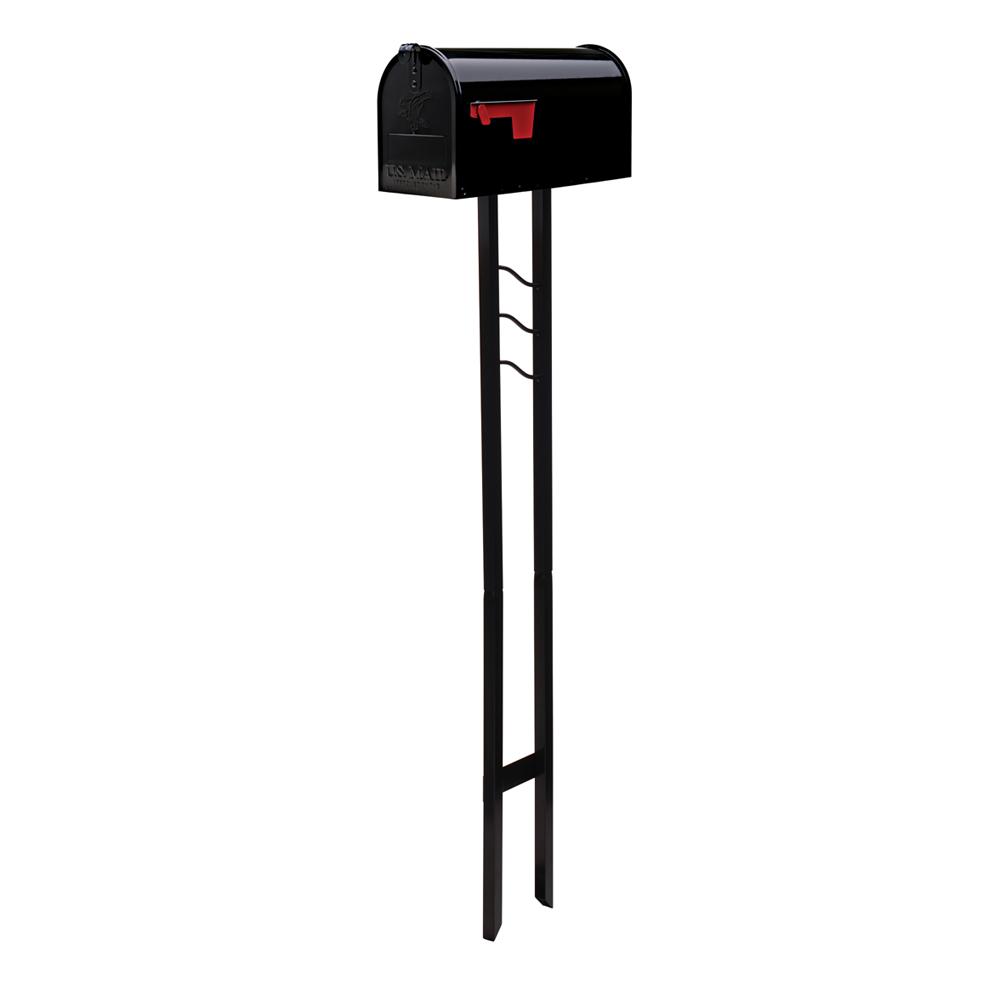 Black mailbox with post kit