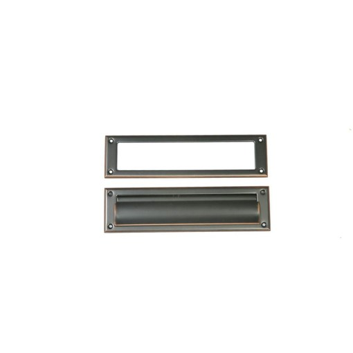 rubbed bronze mail slot