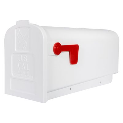 Parsons white post mount mailbox