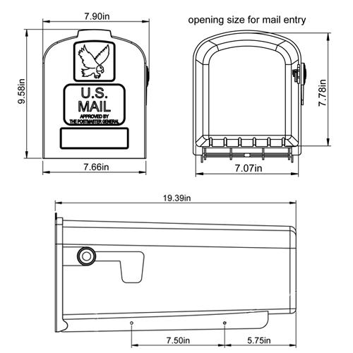 Parsons Mailbox Tech Specs