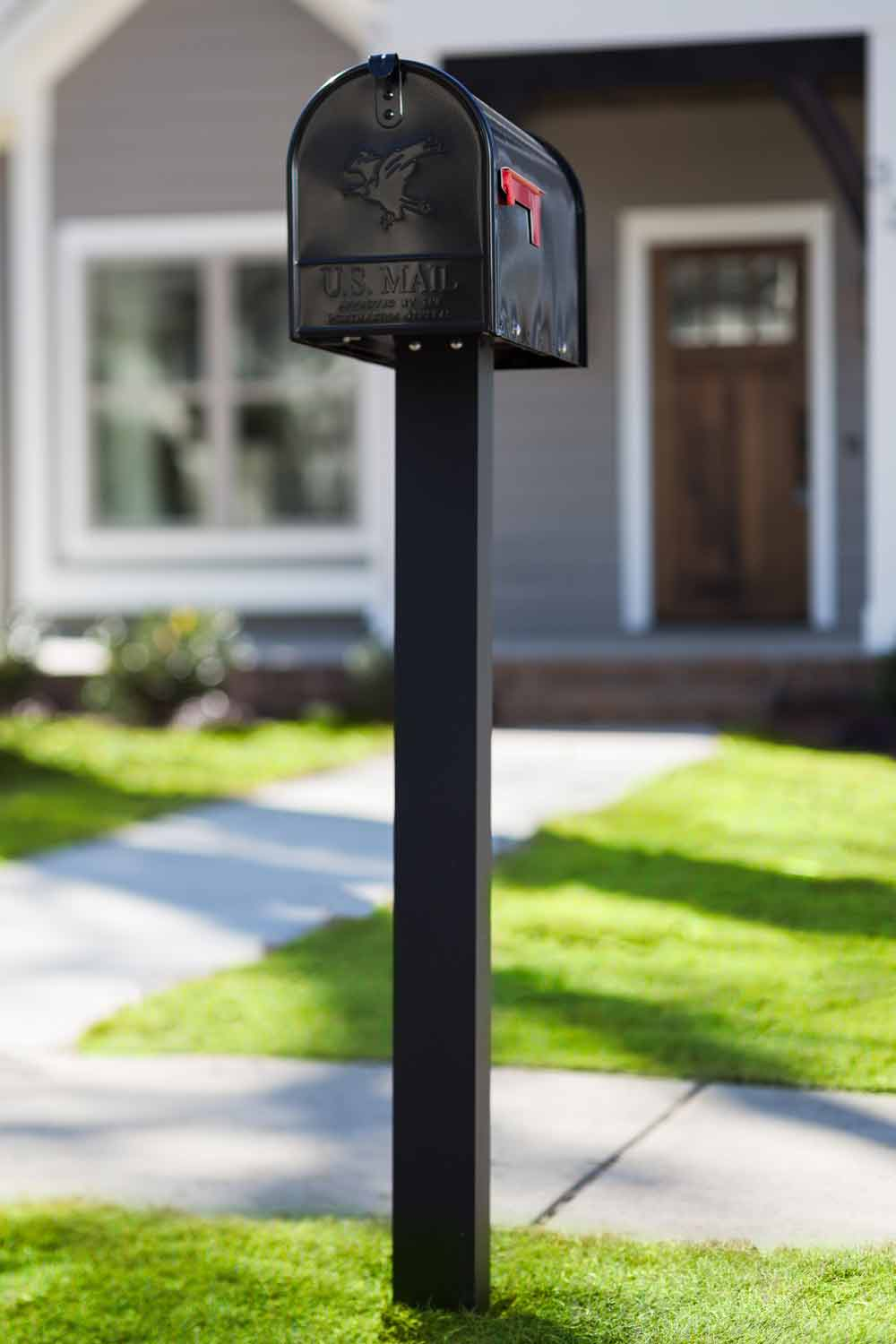 Black Mailbox and Post