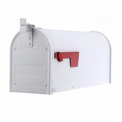 Aluminum Mailbox, White
