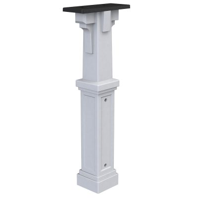 plastic white mailbox post