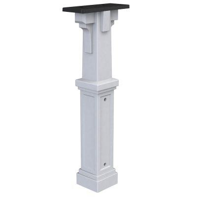 plastic white mailbox post